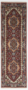 Traditional Hand Knotted Red Navy Blue Multicolor Runner Rug 2'6 x 8' - IGotYourRug