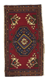 Traditional Hand Knotted Red Multicolor Rug 1'8 x 3'2 - IGotYourRug