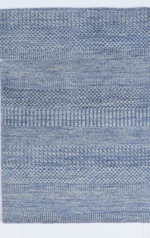 Contemporary Hand Knotted Blue Wool Rug 2'3 x 3'