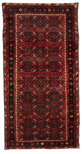 Traditional Hand Knotted Red Multicolor Wool Rug 2'7 x 5' - IGotYourRug