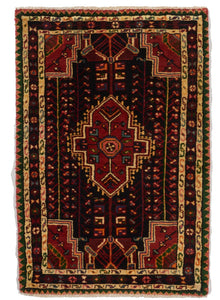 Traditional Hand Knotted Red Multicolor Wool Rug 2'9 x 4'2 - IGotYourRug