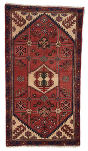 Traditional Hand Knotted Red Ivory Wool Rug 2'4 x 4'6 - IGotYourRug