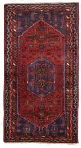Traditional Hand Knotted Red Purple Multicolor Wool Rug 2'9 x 5'1 - IGotYourRug