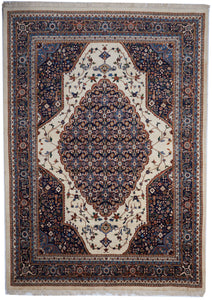 Traditional Hand Knotted Red Ivory Wool Rug 8'4 x 11'9 - IGotYourRug