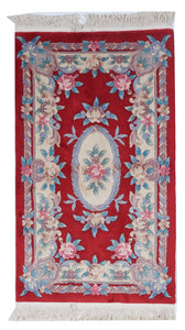 Traditional Hand Knotted Red Ivory Wool Rug 3' x 5'1 - IGotYourRug