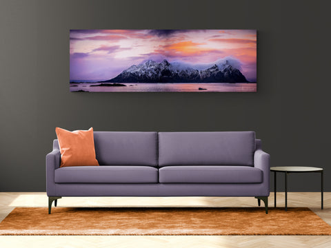 The beautiful lille Molla island in Lofoten on Gallery Print (3 sizes)
