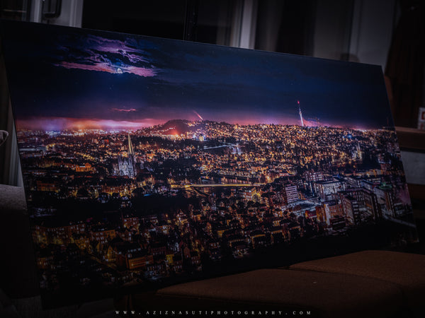 Trondheim Panorama from Utsikten on Gallery Print (150X50 cm)