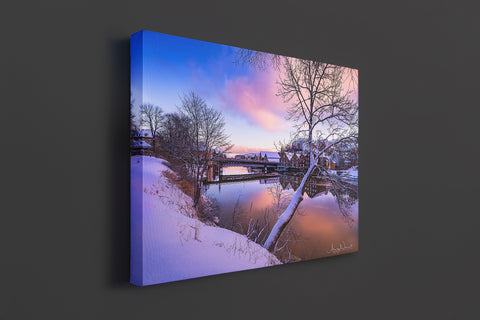 A lovely scene from Trondheim winter on Canvas