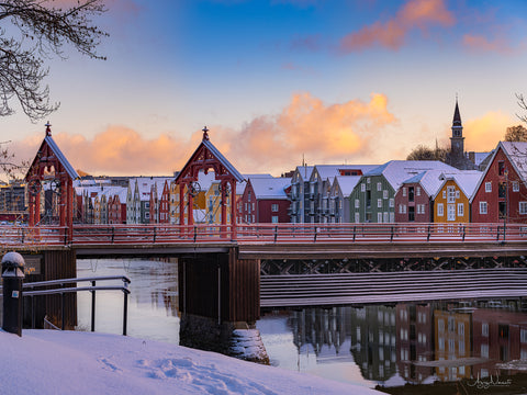 Trondheim With Snow in April