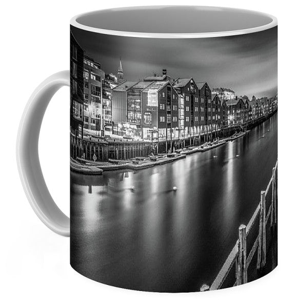 Trondheim Night From Bakke Bru (Coffee Mug)