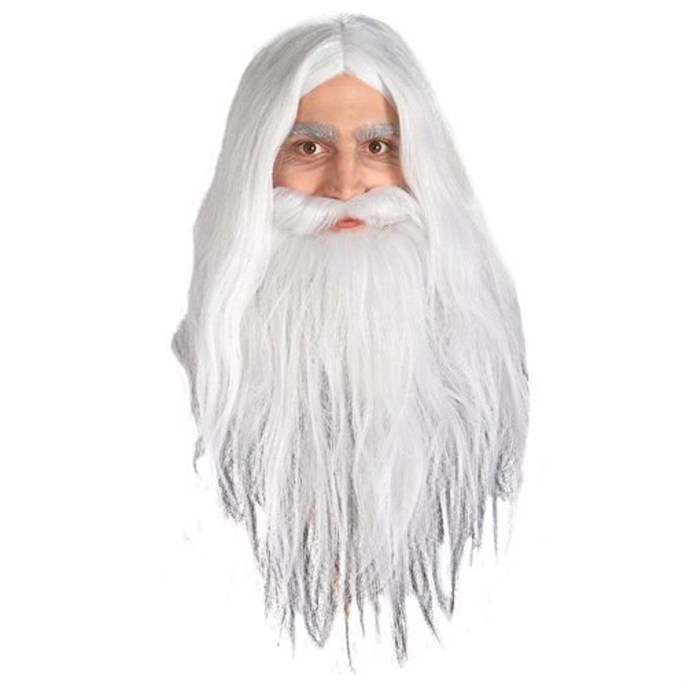 The Lord of the Rings Gandalf Wig and Beard Costume Set, One Size