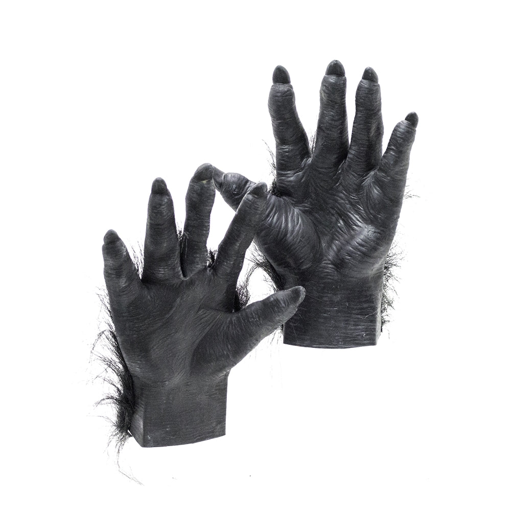 Americana Halloween Costumes Hairy Gorilla Latex Gloves- Costume Accessory