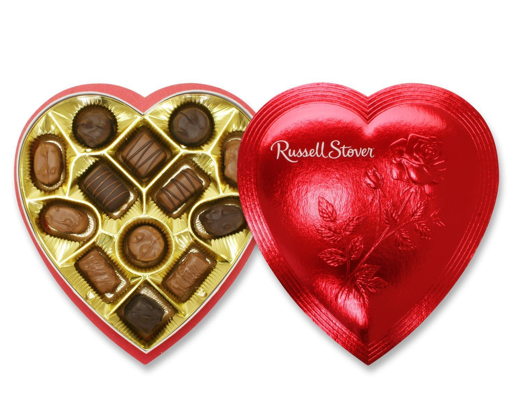 Russell Stover 7 Oz. Assorted Chocolates Red Foil Valentine Heart [Pack of 5]