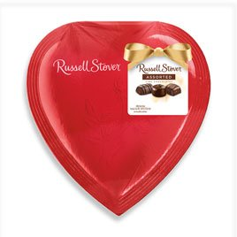 Russell Stover Red Foil Heart, 4.75 oz.