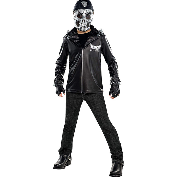 Amscan Boys Bad to The Bone Costume - Large (12-14) Black