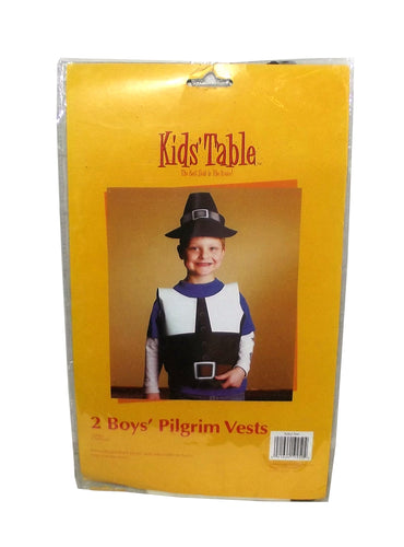 Kids' Table Boys' Thanksgiving Pilgrim Party Vest, 2 count
