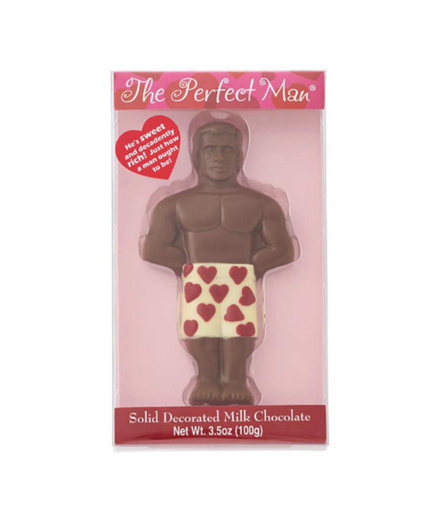 The Perfect Man Valentine's Day Solid Decorated Milk Chocolate - 3.5oz