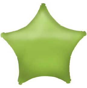 18in Lime Green Star Balloon