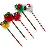 Christmas Jingle Bell Pens Assorted-Choices may vary