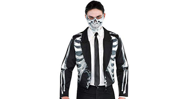 Amscan Black and Bone Halloween Jacket for Men, One Size