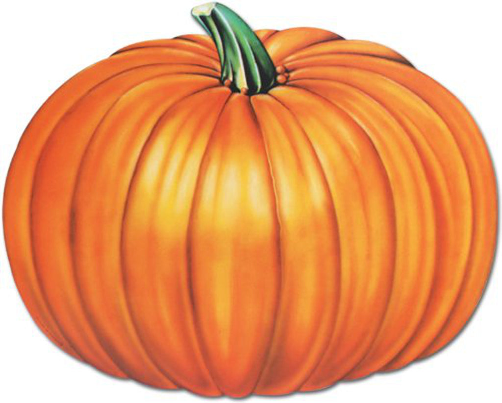 Beistle Everyday Jumbo Pumpkin Wall Cutout Harvest Decor, 24 X 19 inches