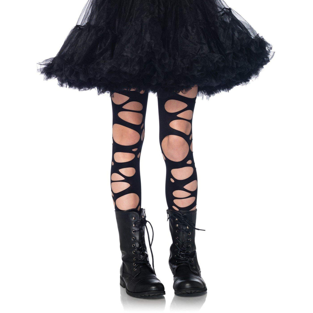 Leg Avenue Enchanted Costumes Tattered Tights Children's Costume Hosiery