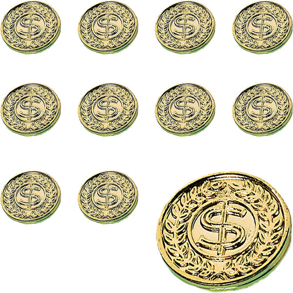 "Amscan St. Patrick's Day Plastic Gold Coins Mega Value Pack, 400 Ct. | Party Favor - 392612, 10 1/4"" x 7 1/4"""