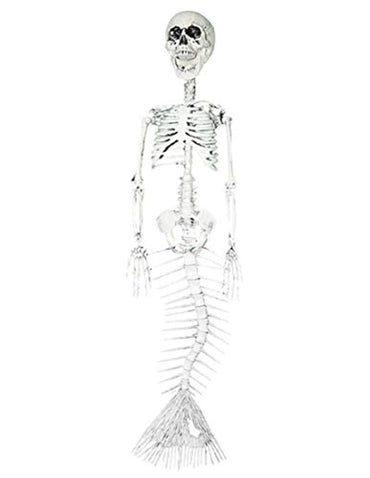 "29.5"" Mermaid Skeleton Fictional Water Creature Halloween Prop Decoration"