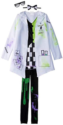 Fun World Mad Evil Scientist Costume for Girls - Includes Lab Coat, Shirt, Tie & Gloves