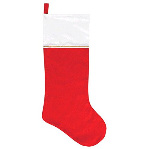 Amscan Festive Christmas Jumbo Red Stocking Party Decoration, Felt, 34""