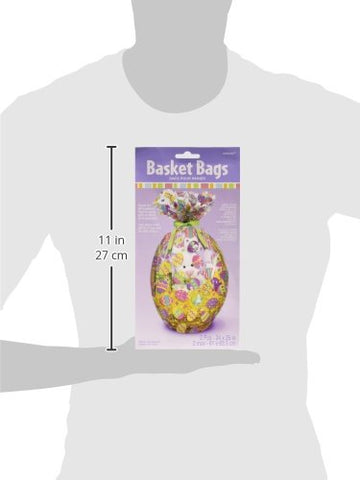 "Amscam Printed Eggs Basket Bags 24"" x 25"", Multicolor"