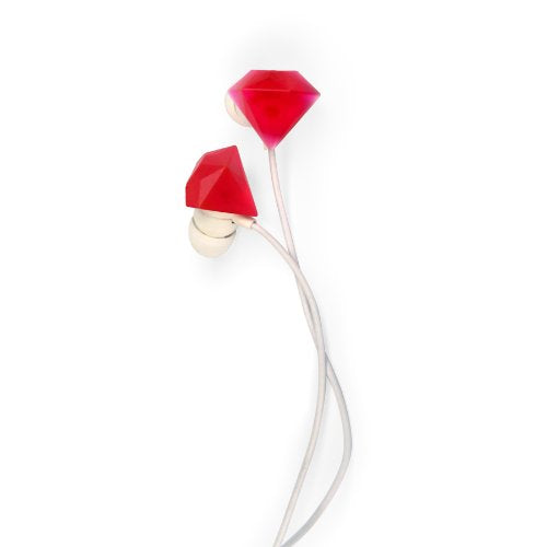 Kikkerland US038 Ruby Earbuds - Retail Packaging - Red/White