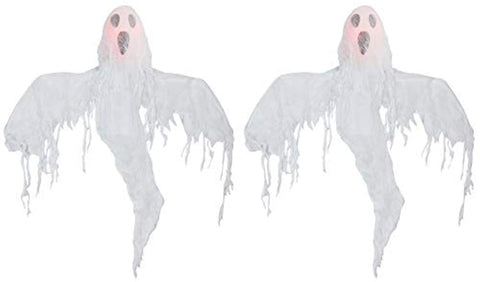 Hanging Ghost Halloween Decoration, Pack of 2, 20 Inches
