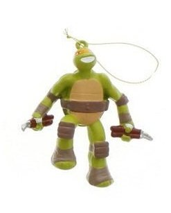 "5"" Teenage Mutant Ninja Turtles Michelangelo Christmas Figure Ornament"