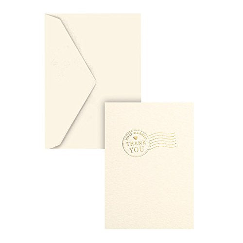 Graphique Post Marked Thank You La Petite Presse Greeting Card (L1168CB)