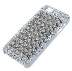iPhone 5 Studded Case Cover-White (1 piece)