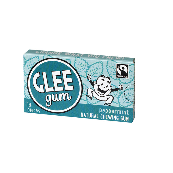 Glee Gum Natural Chewing Gum, 1 BOX (16 pieces)