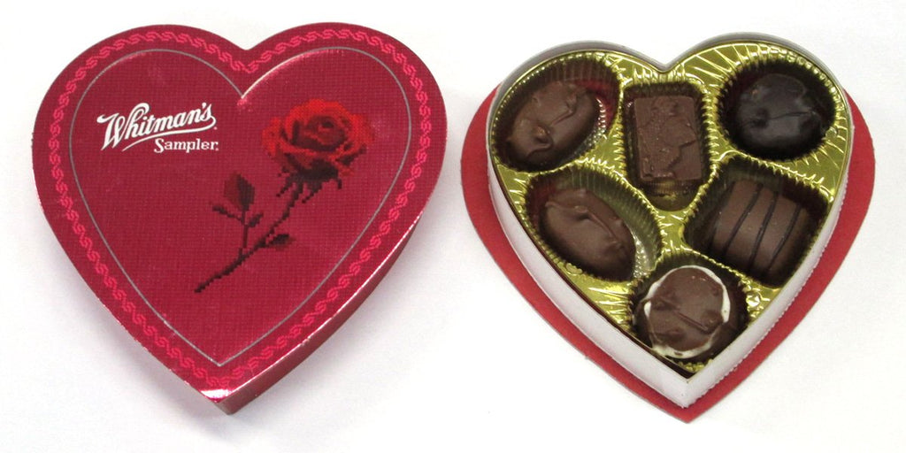 Russell Stover 7246 3.25 oz Whitmans Assorted Chocolates Heart