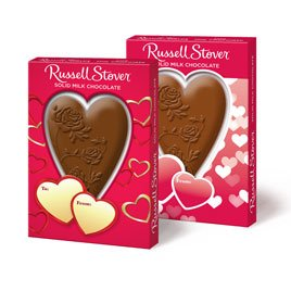 Russell Stover Solid Milk Chocolate Heart, 1.5 oz (1 per order)