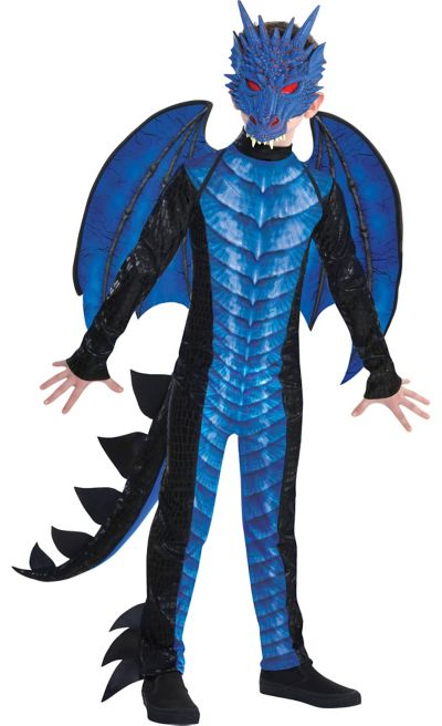 Child Deadly Dragon Costume Halloween Costume for Boys, Large  with Included Mask, by Amscan