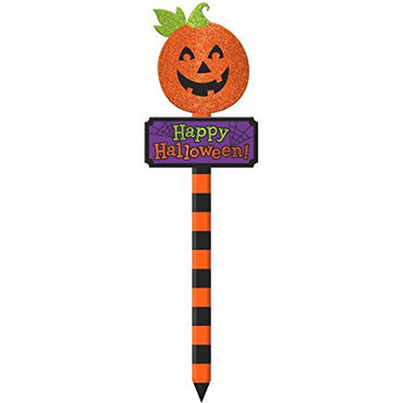 Amscan Jack-O-Lantern Yard Stake Halloween Decoration