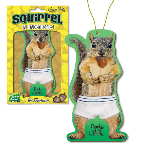 Archie McPhee Squirrel in Underpants Hanging Air Freshener