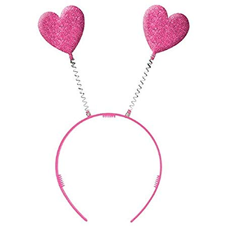 Amscan Valentine Pink Plastic Heart Headbopper | Party Accessory