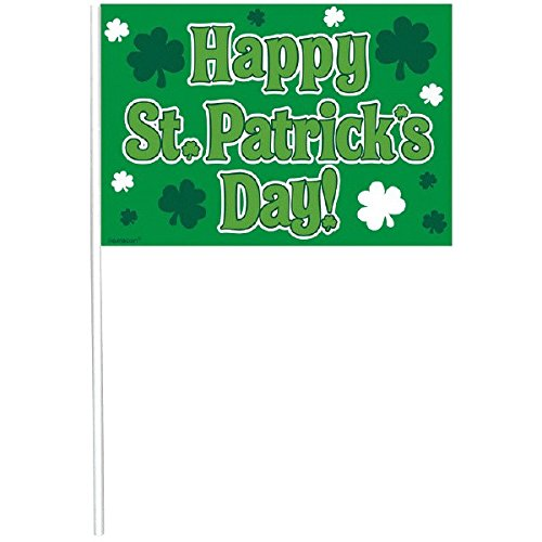 """Happy St. Patrick's Day"" Flag, 12 Ct. 