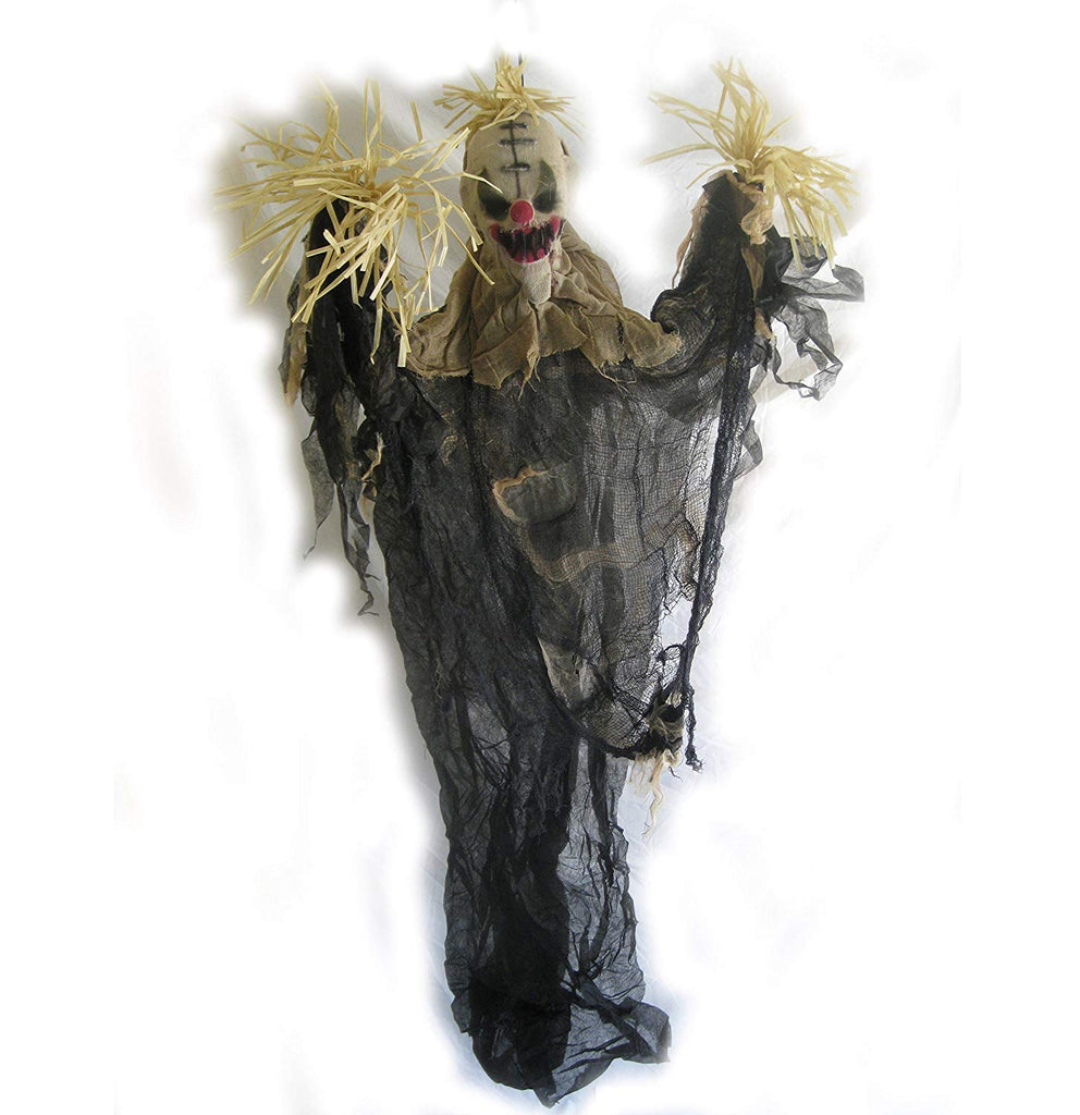 The Gothic Collection Scarecrow Clown Hanging Halloween Decor