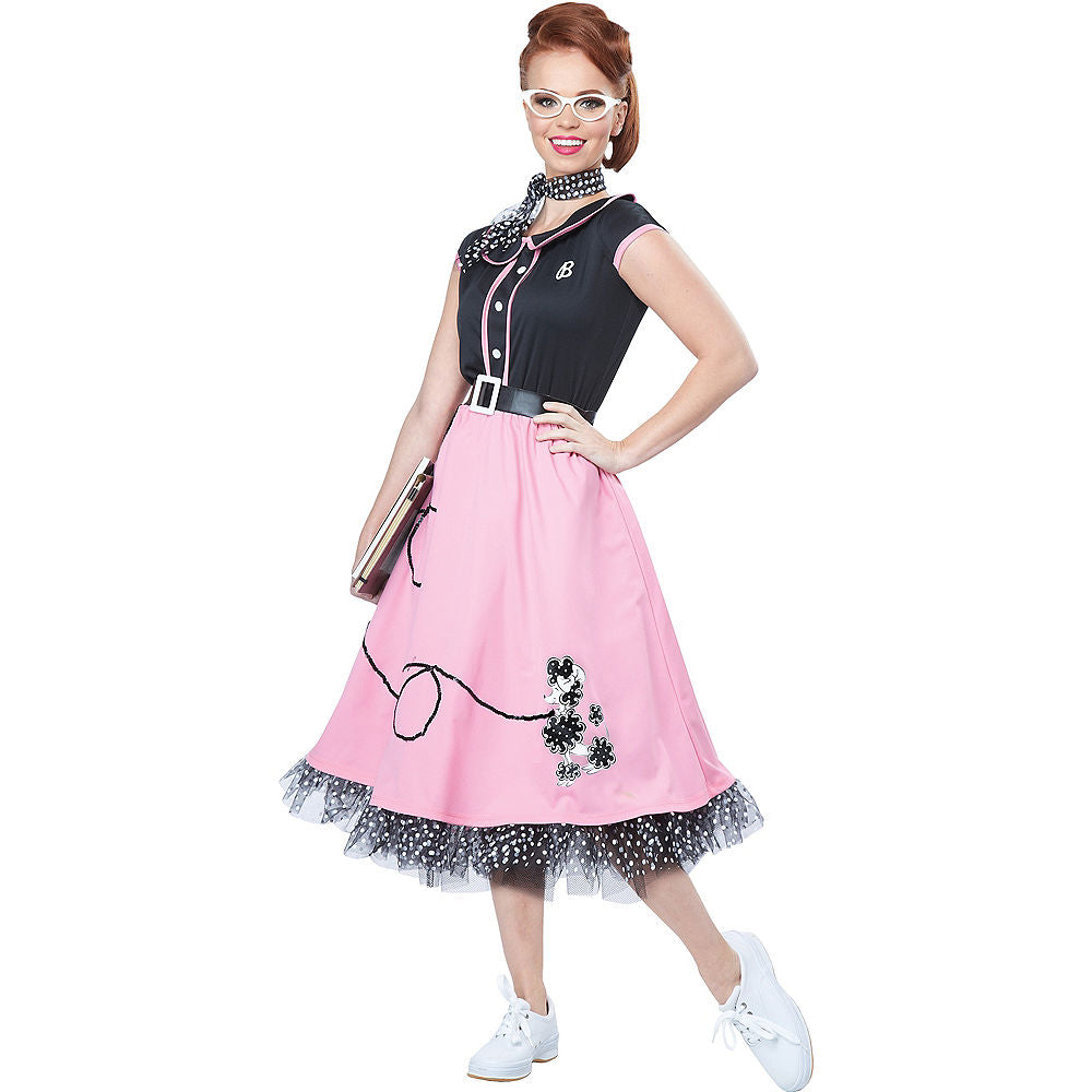 California Costumes Women's 50s Sweetheart, Black/Pink