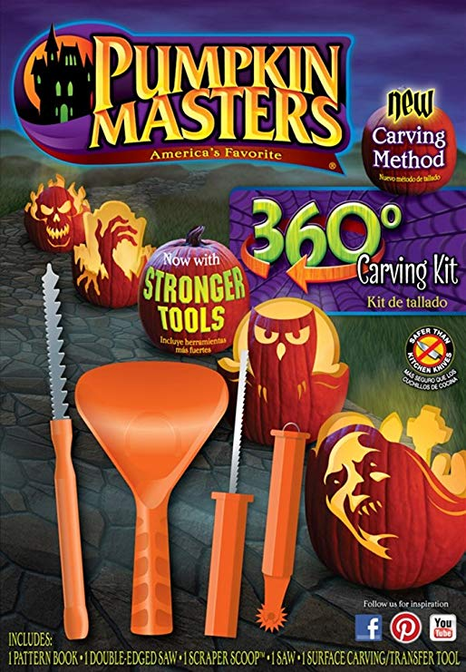 Pumpkin Masters 360 Pumpkin Carving Kit with a Pattern Book and 4 Tools