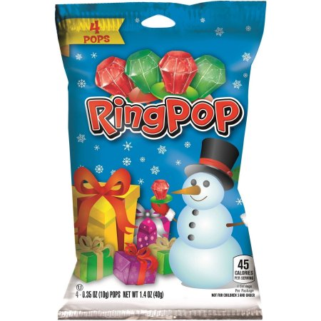 Ring Pop Christmas Holiday Edition-4 per package