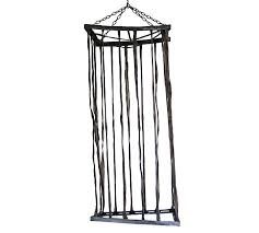 Hanging Halloween Black Fabric Lifesize Cage