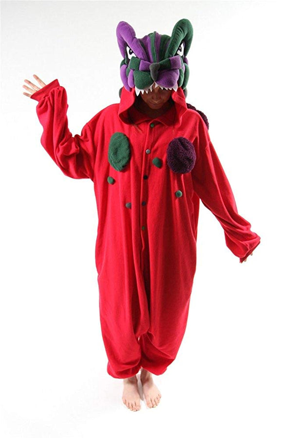 Bcozy Kaijyuu Red Dragon Monster Adult Onesie, One Size
